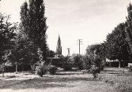 Park przed Urzędem Gminy - 1967 r._1